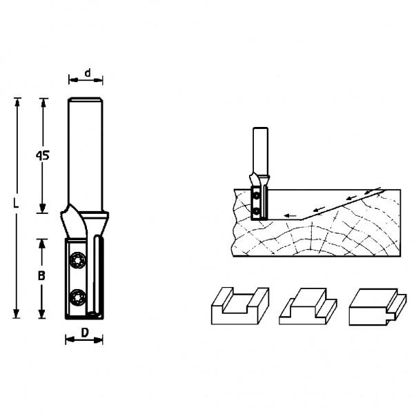 Famag HM Wendeplatten-Nutfräser 2s 3227