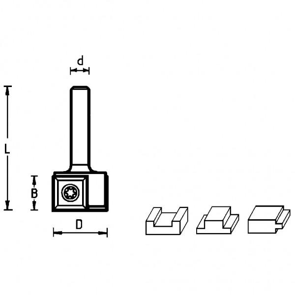 Famag HM Wendeplatten-Falz- und Bündigfräser 3203