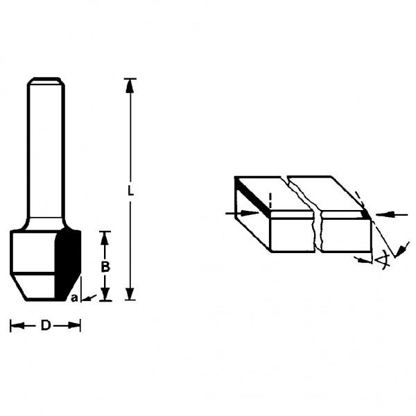 Famag HM Fase-Bündigfräser 3110