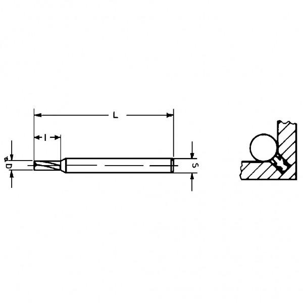 Famag Dichtungs-Nutfräser einseitig gerades Profil 3107