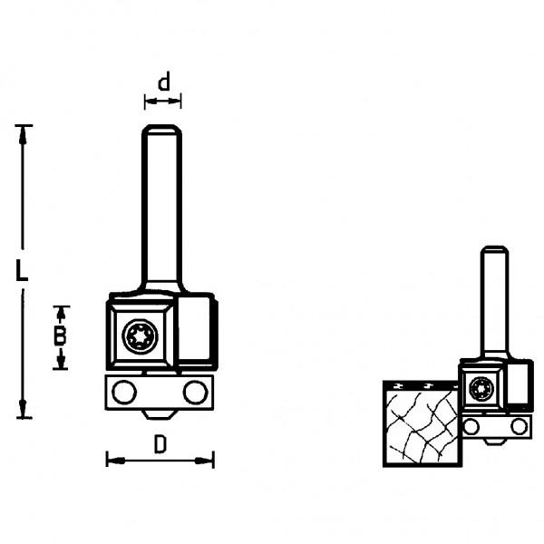 Famag HM Wendeplatten-Bündigfräser 3201