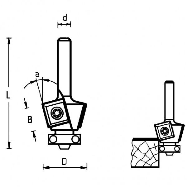 Famag HM Wendeplatten-Fasefräser 3202
